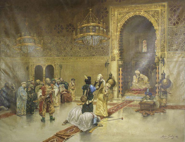 Πίνακας με το κεφάλι του Αλή Πασά κατά την παράδοσή του στον Σουλτάνο Μαχμούτ Β'