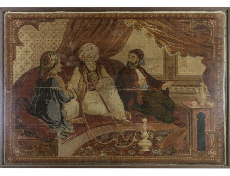 Ταπισερί τοίχου με τον Αλή Πασά και αυλικούς, Γαλλία, 19ος αι.