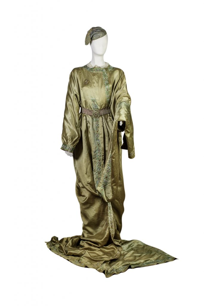 The authentic silk dress of Kyra-Vassiliki