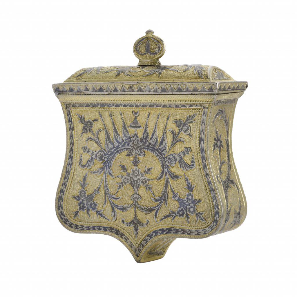 Silver gold-plated paláskes (bullet boxes), Epirus, 19th c.