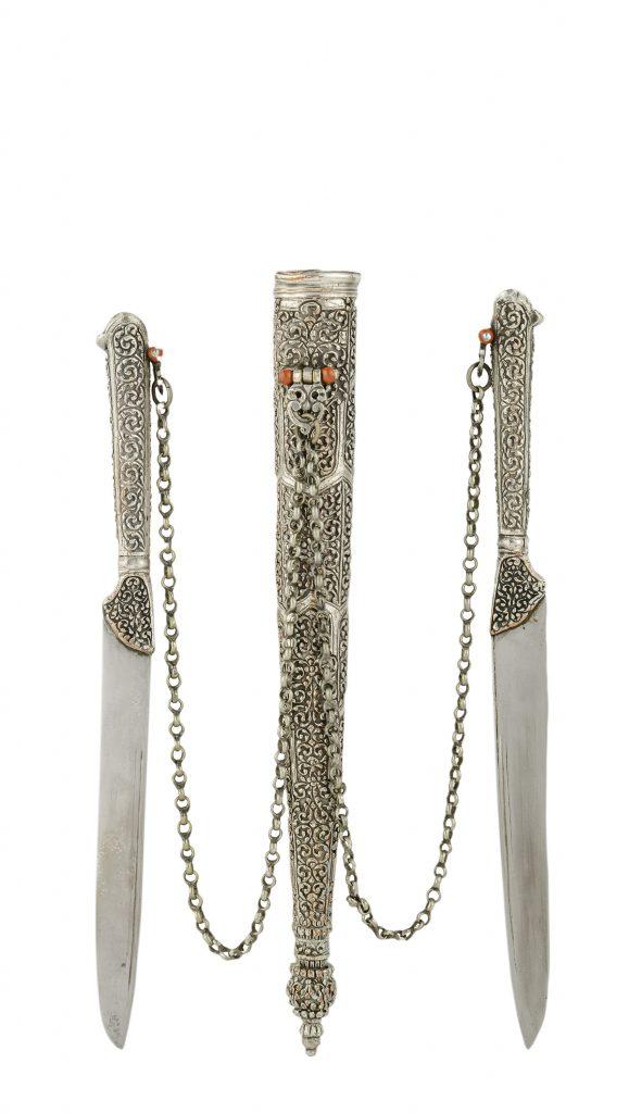 Ασημένιο διπλό μαχαίρι ταξιδίου, Ήπειρος, 19ος αι.