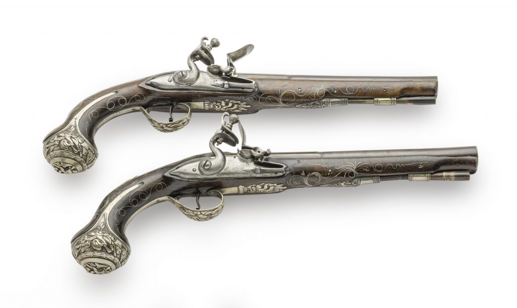 Pair of pistols sold on the markets of the East, France, 19th c.